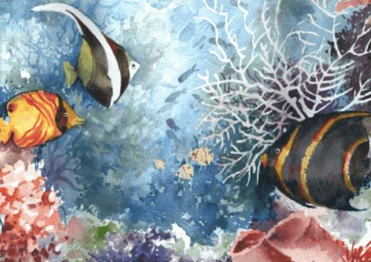 Watercolor Underworld Camp