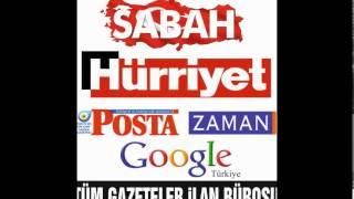 Hürriyet Gazetesi İlan Ajansı 0212 585 23 75 Sabah Ticari İlan bürosu