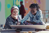 "A Microsoft commercial, ""Spread Harmony,"" was one of several recent ads from major American brands that prominently featured everyday Muslims."