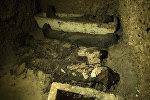 Momias egipcias, foto de archivo