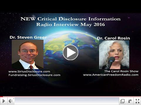 Dr. Steven Greer and Dr. Carol Rosin