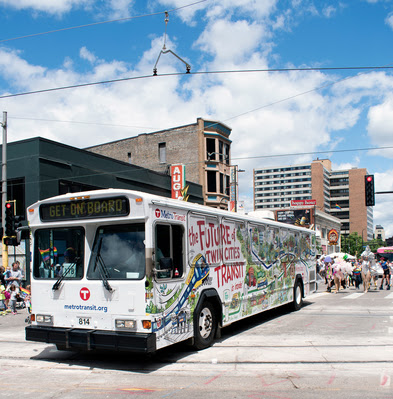 New outreach Bus in Twin Cities Pride Parade