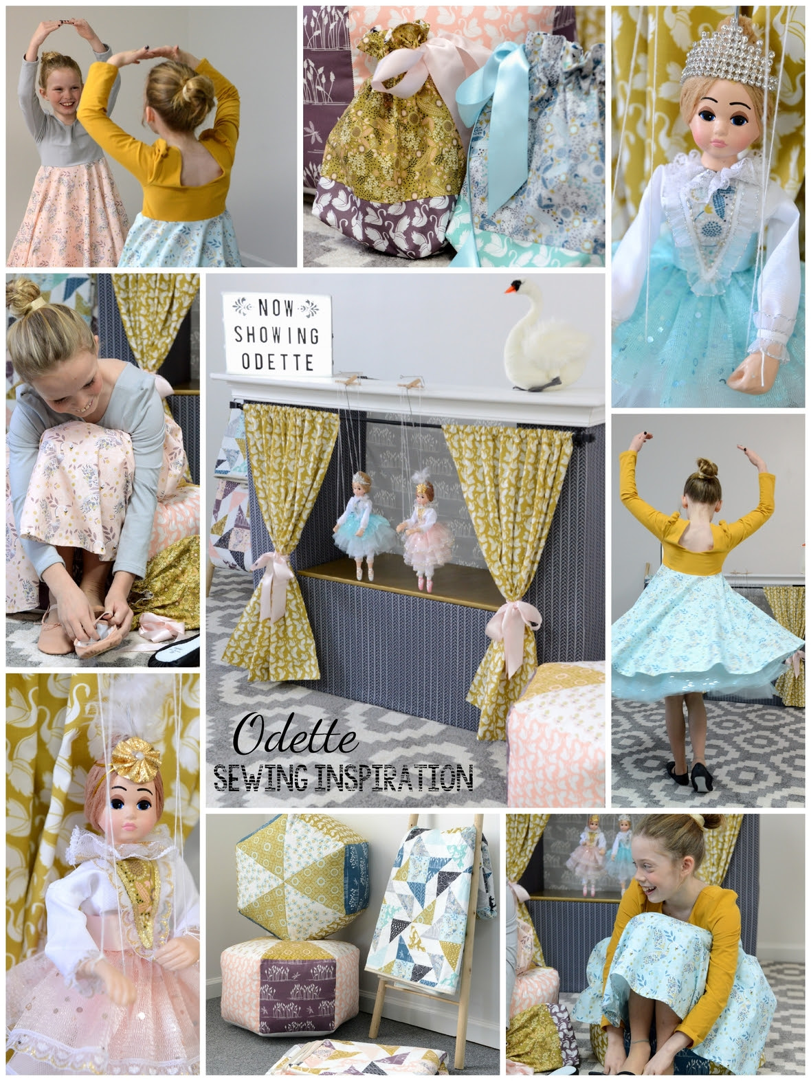 Odette Fabric Sewing Inspiration Collage
