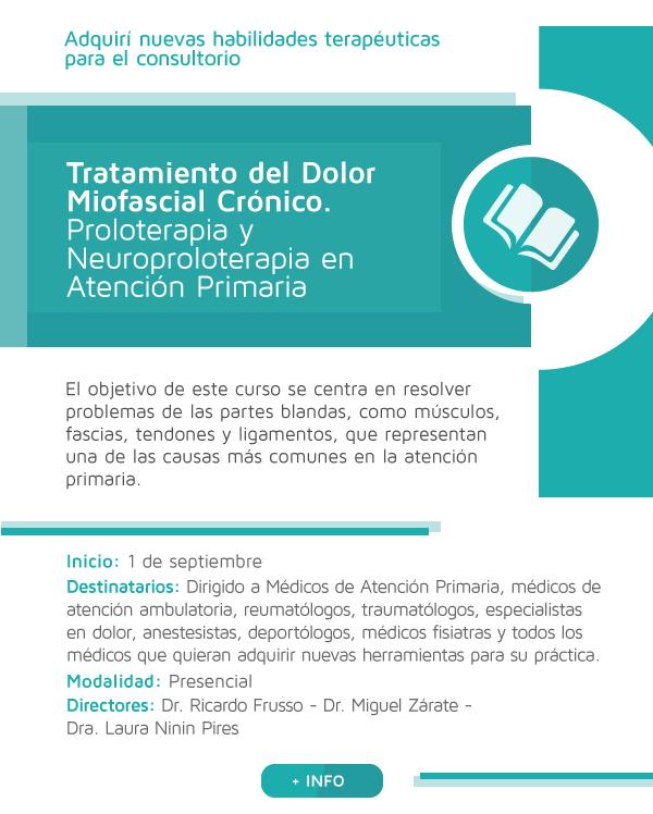 Tratamiento del Dolor Miofascial Crónico. Proloterapia y Neuroproloterapia en Atención Primaria