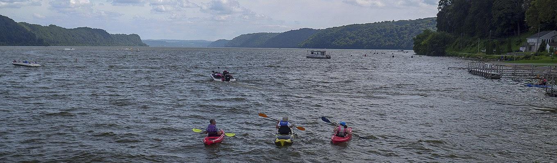 Kayaking on Susquehanna River