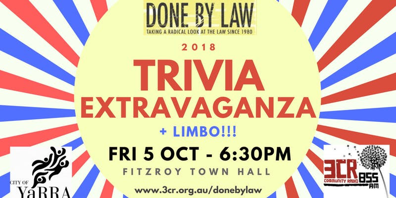 Done By Law Fundraiser - 5 October 2018
