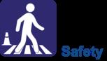 Safety Section header logo - person walking across crosswalk