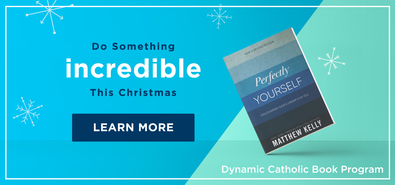 Do something incredible this Christmas - LEARN MORE - Perfectly Yourself - Dynamic Catholic Book Program