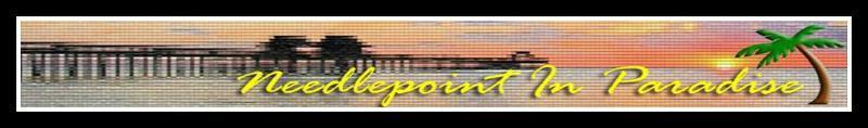 Needlepoint in Paradise banner logo - premier needlepoint in southwest Florida