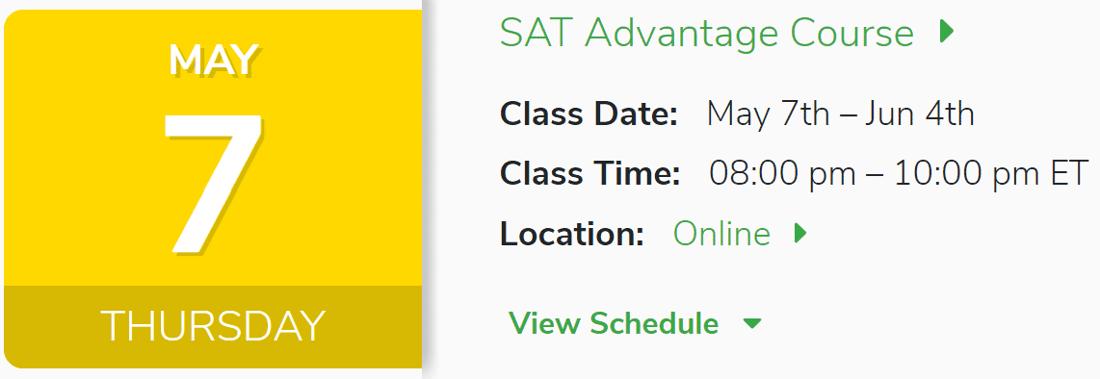 SAT Advantage May 7th