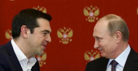 Tsipras y Putin durante la reunión mantenida el miércoles.- EFE