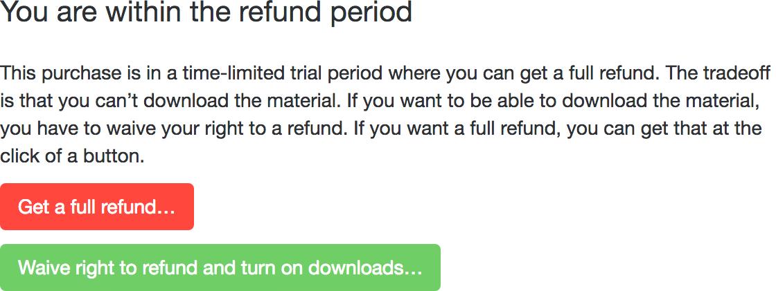 Refund period