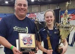 NASP national championship winner at right