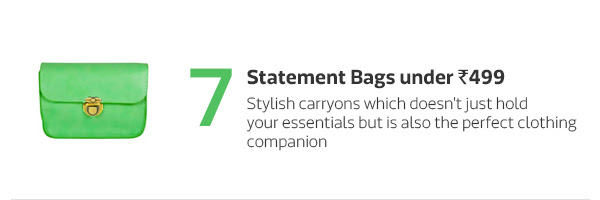 Statement Bags under Rs.499