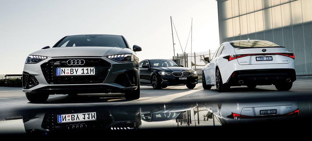 Audi A4 v BMW 330i v Lexus IS300 F Sport