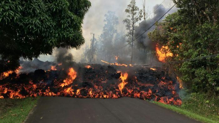 Une coulée de lave à Hawaï, le 9 mai 2018