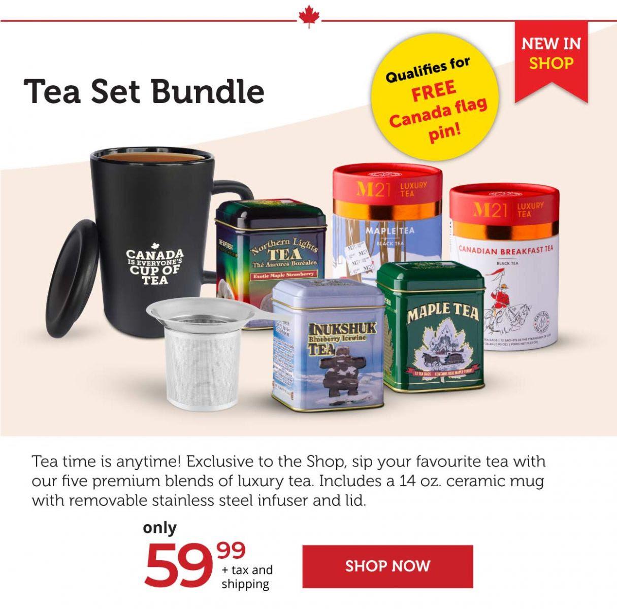 Celebrating Canada tea set bundle