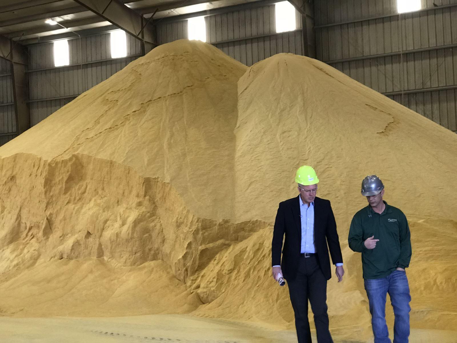 Paul Davis toured East Kansas Agri-Energy in Garnett
