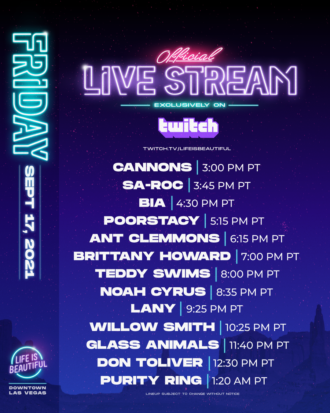 Life is Beautiful Official Livestream - Friday