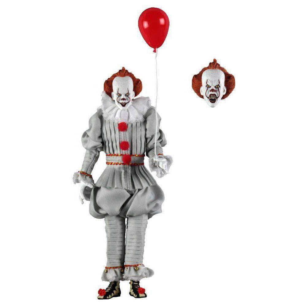 "Image of IT - 8"" Clothed Action Figure - Pennywise (2017)"