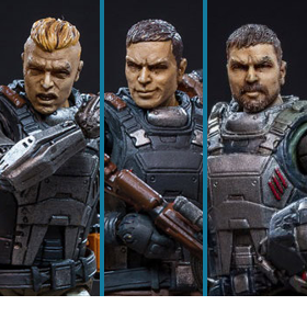 DARK SOURCE WOLF TEAM 1/18 SCALE FIGURES
