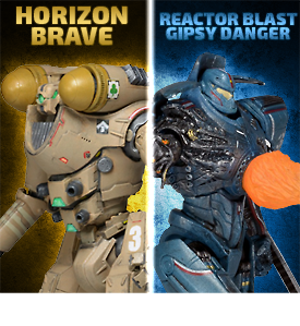 PACIFIC RIM SERIES 06 JAEGER SET PLUS BABY OTACHI