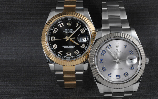 Datejust II Steel Gold Arabic Numeral Watches
