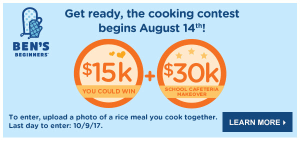 Get ready, the cooking contest begins August 14th! Learn More