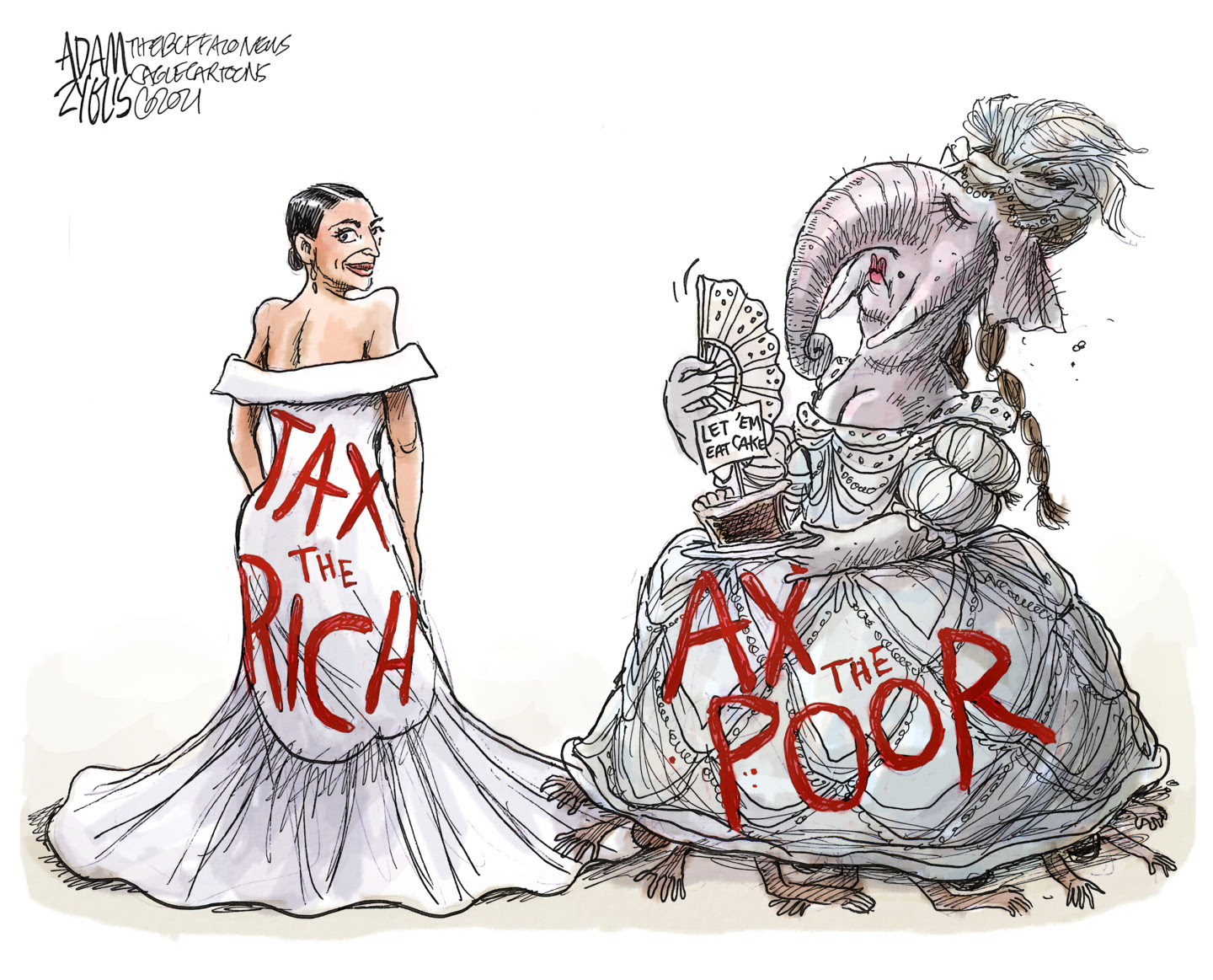 Republicans give tax cuts to the rich while denying other Americans basic benefits.
