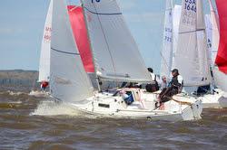 J/22s sailing upwind