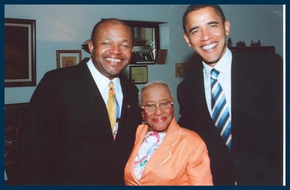 Rev. Wilie Barrow and President Barack Obama