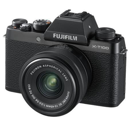 X-T100 Mirrorless Digital Camera, Black with XC15-45mmF3.5-5.6 OIS PZ Lens