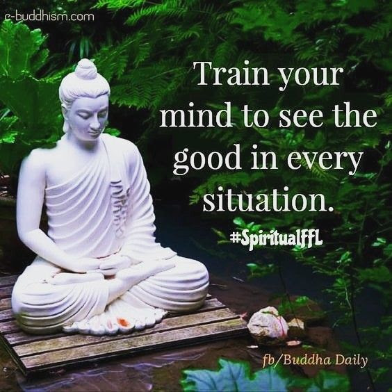 Train your mind to see the good in every situation. #buddha quotes #buddhism #spiritualFFL
