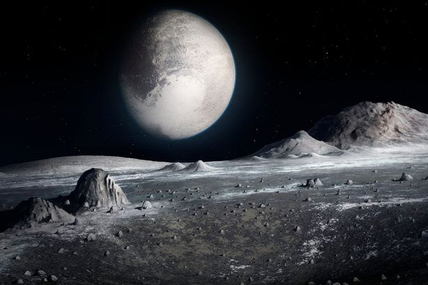 PICTURE OF PLUTO SURFACE