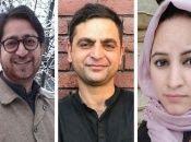 Peerzada Ashiq (L), Gowhar Geelani (C), and Masrat Zahra (R) are all Kashmiri journalists targeted by India