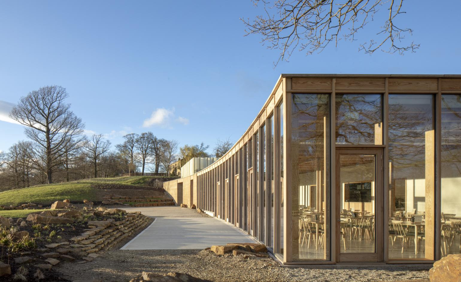 Yorkshire Sculpture Park opens visitor centre designed by Feilden Fowles