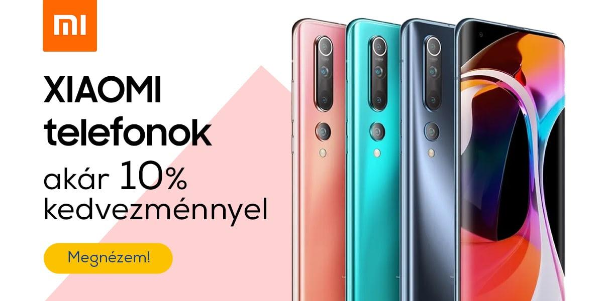 Xiaomi telefonok akár 10% kedvezménnyel