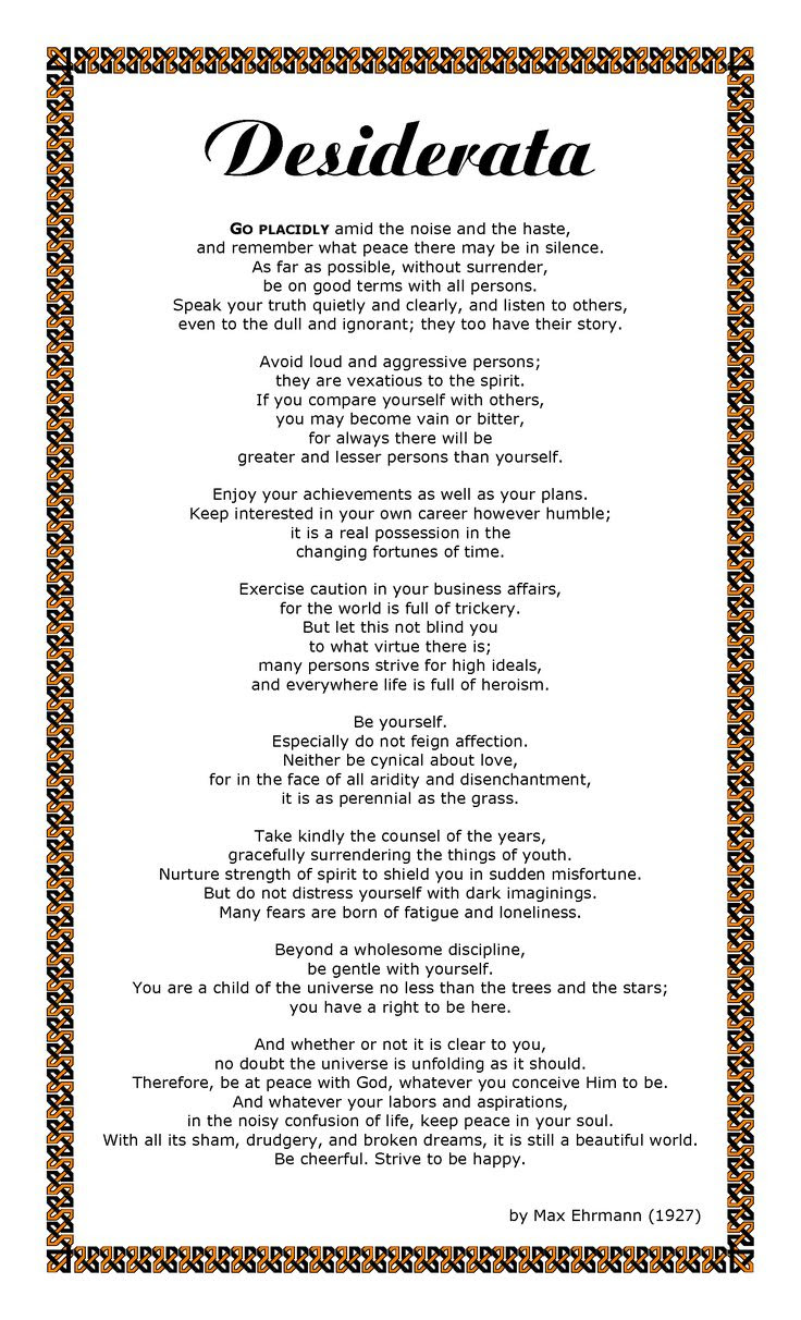 Image result for desiderata