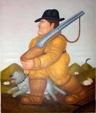 Vendita falso d'autore Il cacciatore di Botero