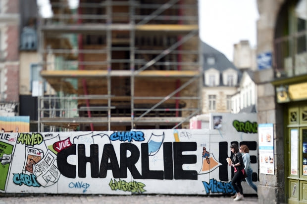 The IHRC gave their international 'Islamophobe of the Year' award to the satirical magazine Charlie Hebdo (Photo: Damien Meyer/AFP/Getty)