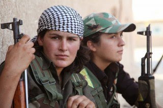 Two YPG fighters