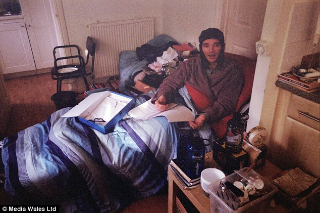 Peter Lloyd has been confined to a sofa bed in his home and is unable to use mains electricity for heat or light