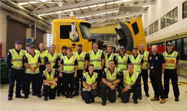 TAFE Queensland SkillsTech�s heavy automotive team delivers police training