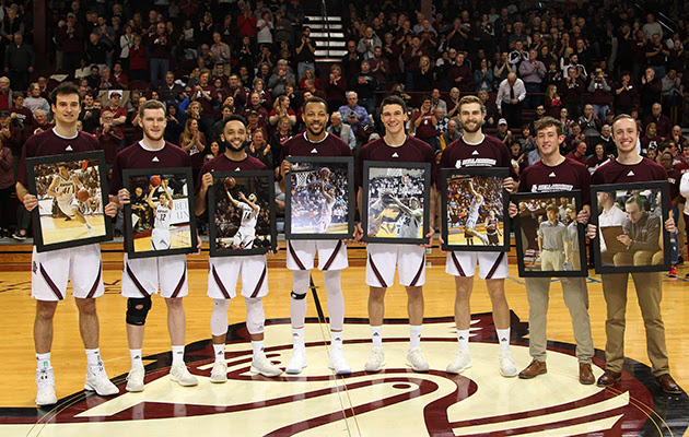 Bellarmine honored six senior players and two managers before the game.
