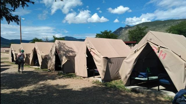 Tooth | Base camp tent, Philmont