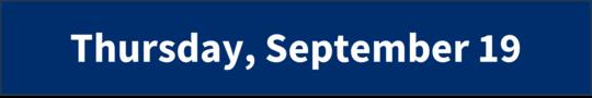 Thursday, September 19