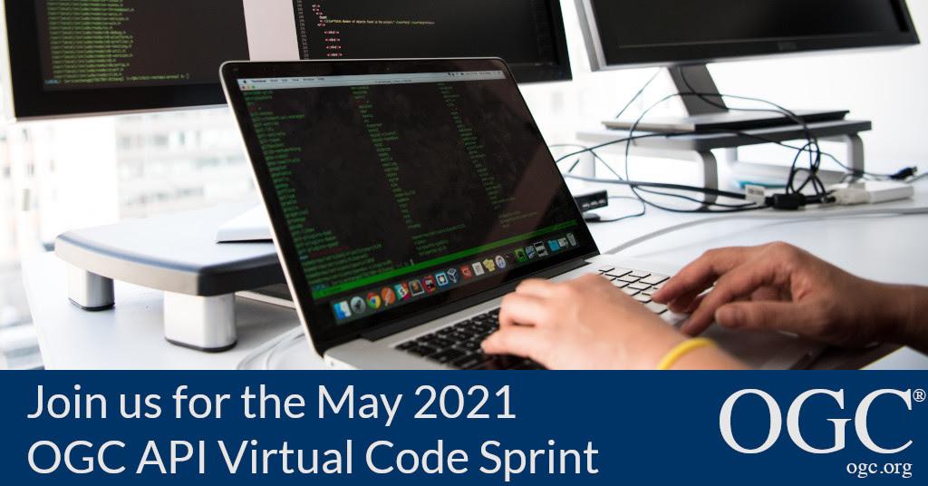 邀请开发者参加2021年5月OGC API虚拟代码Sprint的横幅