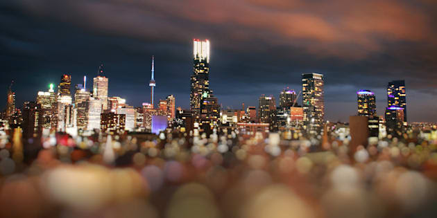A tilt-shift image of central Toronto. A new forecast says the city's real estate market will return to rapid growth, thanks to a boom in tech jobs.