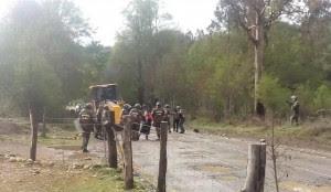 Detención Lonko Juana Calfunao (05.10.15)