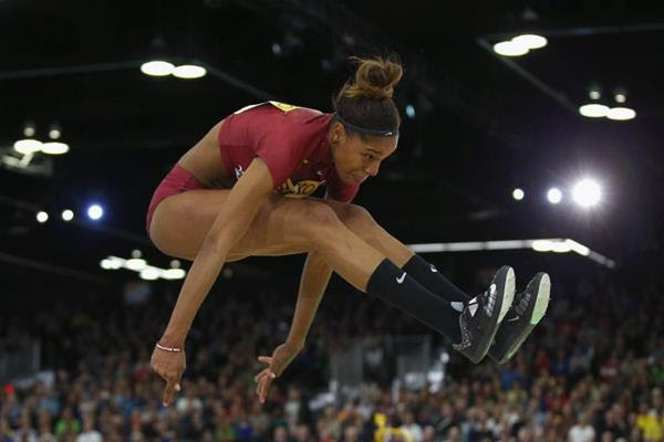 Yulimar Rojas in the triple jump at the IAAF World Indoor Championships Portland 2016 (Getty Images)